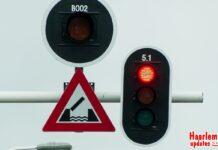 stock verkeer verkeerslicht rood licht brug