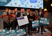 NoFoodWasted Winnaar Present Your Startup 2016. PR foto Present Your Startup.