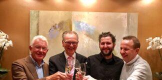 V.l.n.r. Cees Helder, Peter Bruins, Menno Post en Dennis Kuipers. Foto: SVH.