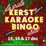 Zingend het jaar uit met de Grote Kerstkaraokebingoshow
