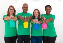 Groepsfoto Joke, Robert, Jessica & Yolande - Helpling Nederland