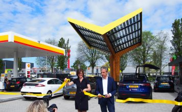 Opening Fastned city station Haarlem. PR foto Fastned.