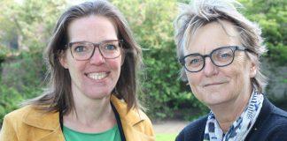 Cora Yfke Sikkema en Marie Thérèse Meijs. Fotografie: Pieter Postmus.