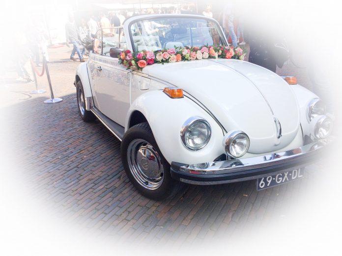 Van welk bruidspaar was deze auto de trouwauto op 1 september 2018? Foto: The Stationery Store.