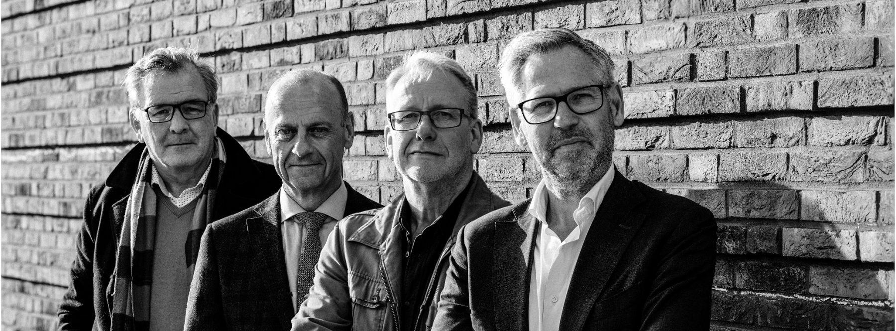 Jaap Sluis, Herman Opmeer, Jan Glas en Marcel Hoenderdos.  Fotografie: Ramon Philippo.