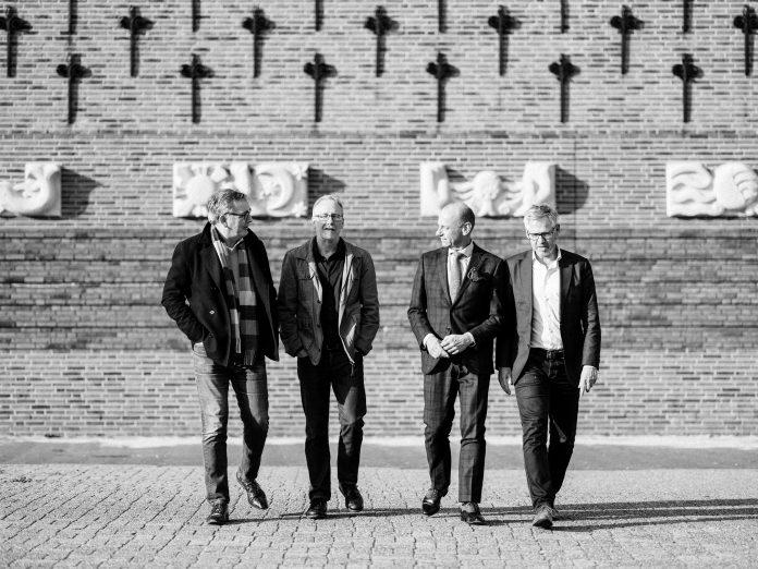 Jaap Sluis, Jan Glas, Herman Opmeer en Marcel Hoenderdos. Fotografie: Ramon Philippo.