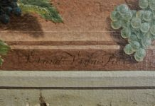 Wandschilderingen Vincent van der Vinne in kunstkamer. Fotografie: Sarah Houterman.