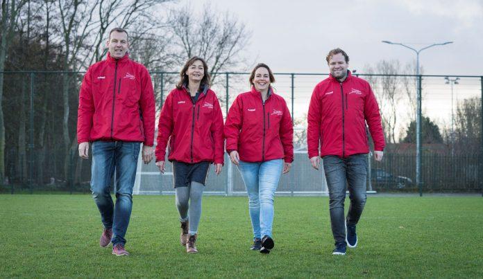 Verenigingsadviseurs in Haarlem. Van links naar rechts: Jeroen Koomen, Jessica Frans, Daniëlle Krijger en Renger van Grinsven. Fotografie: Renata Jansen.