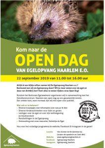 Ingezonden. Poster Egelopvang Haarlem.