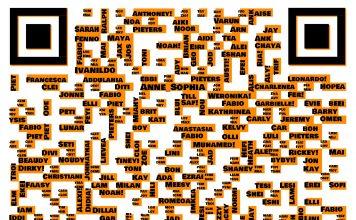 Code met 375 namen gemaakt door studenten van het Nova College.